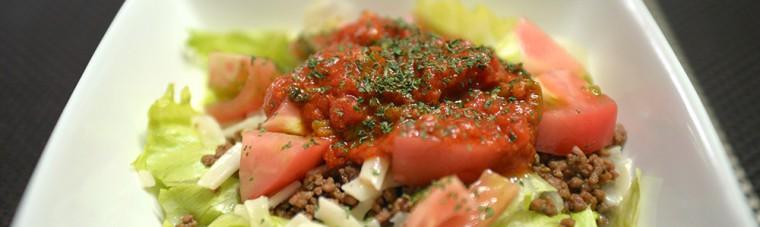 トマトソースのタコライス