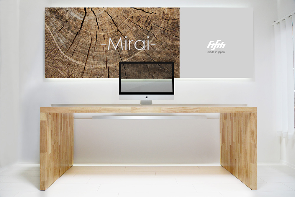 apple store desk table Mirai