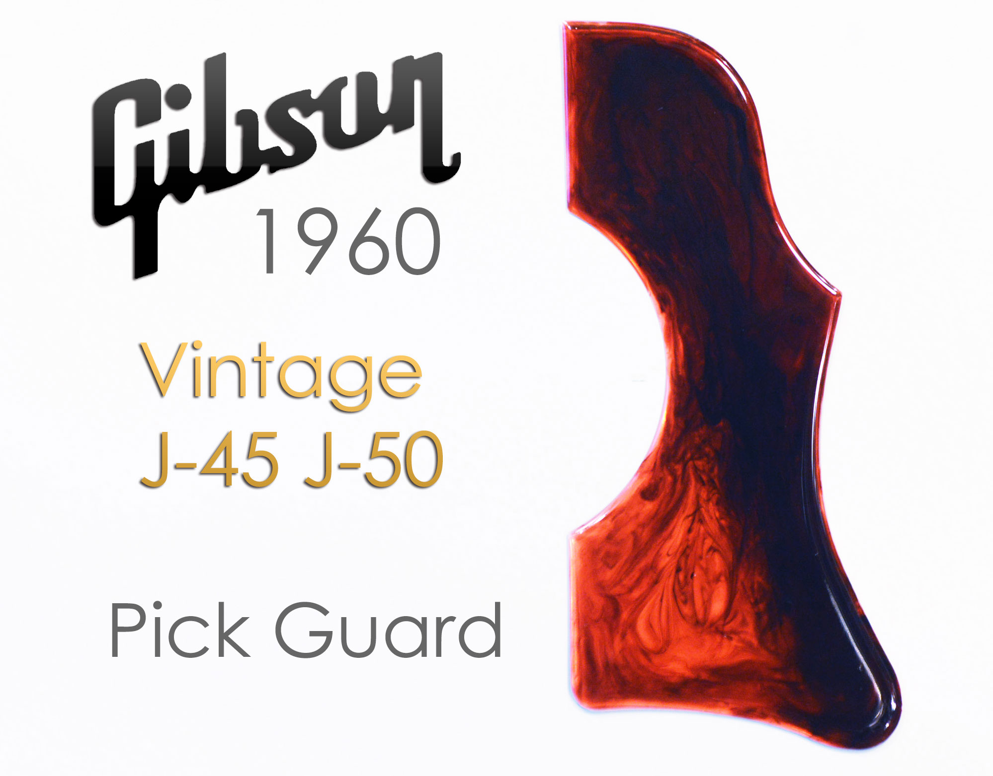 1960年代 ビンテージ ギブソン J-45 J-50 カスタム ピックガード Gibson 純正品 ピックガードを極限再現